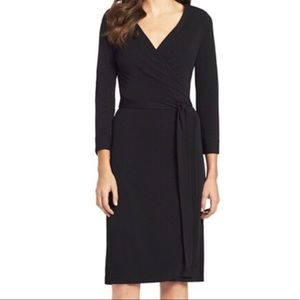 Old Navy Black Wrap Dress 3/4 Sleeves medium